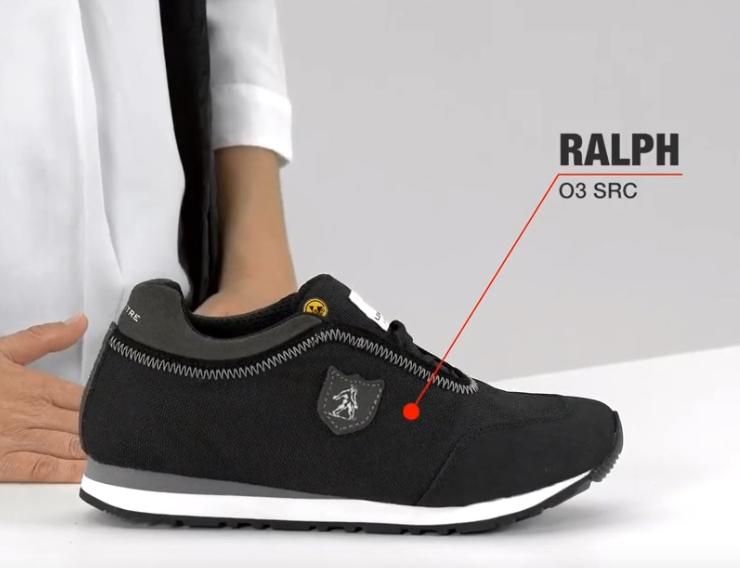 Lemaitre Corrine S2 SRC Ballerina Black Steel Toe Cap Office Formal Safety Shoes