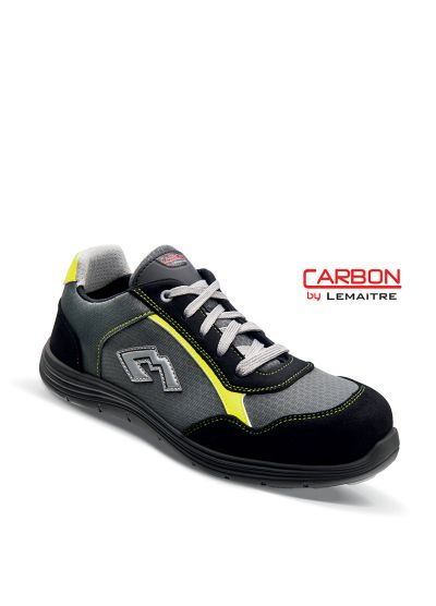 Safety trainer in breathable textile with lightweight carbon fiber toecap BUZZ S3 SRC