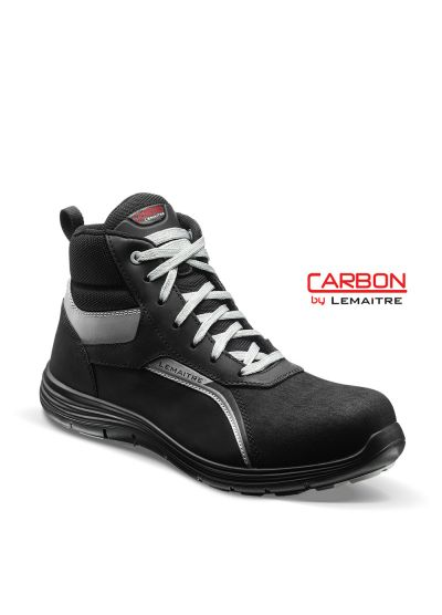 High safety trainer in pull-up leather with lightweight carbon toecap FELIX S3 SRC