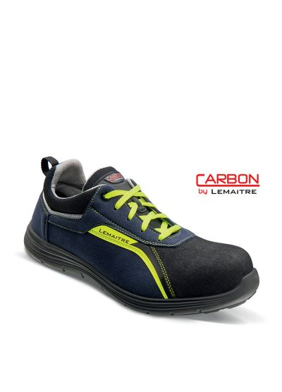 Safety trainer in microfiber with lightweight carbon fiber toecap FLAVIO S3 SRC