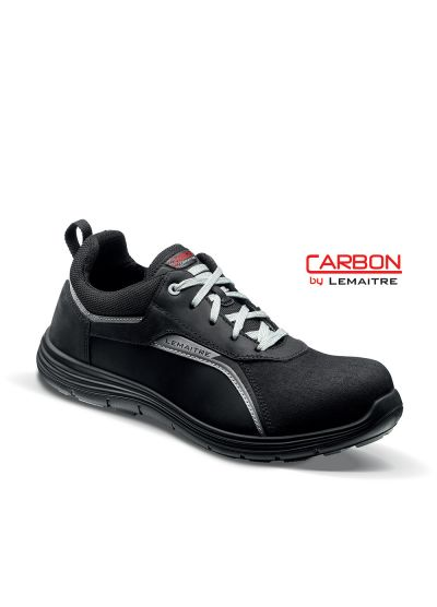 Safety trainer in pull-up leather with lightweight carbon fiber toecap FLOYD S3 SRC
