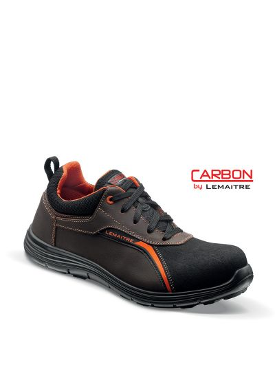 Safety trainer with oiled leather upper and carbon fiber toecap JIMMY S3 SRC