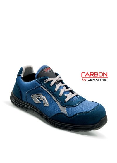 Safety trainer in breathable textile with lightweight carbon fiber toecap KENDJI S3 SRC