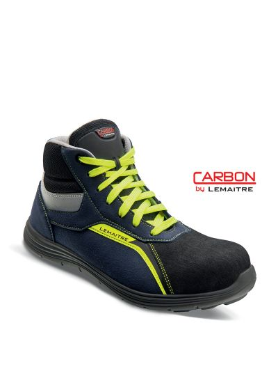High safety trainer in microfiber with lightweight carbon fiber toecap FABIO S3 SRC