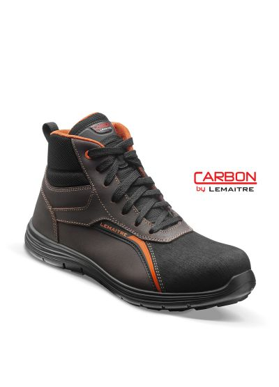 Safety trainer with oiled leather and lightweight carbon fiber toecap JAY S3 SRC