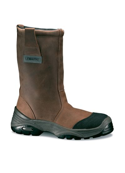 Safety riggerboot in water-repellent pull-up leather BURAN S3 CI