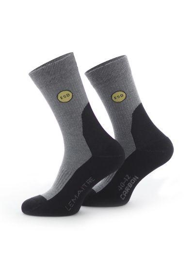 Mi-chaussette électro-dissipative BLACK ESD