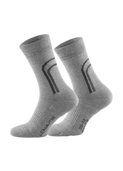 LINDOR GREY hard-wearing & comfortable crew sock