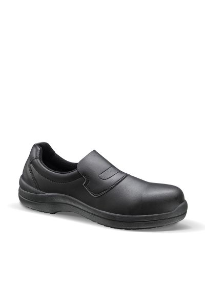 BLACKMAX GRIP LOW FEMME S2 SRC safety loafer for food industry & labs
