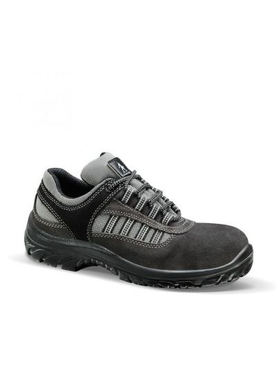 ABIS S1P SRC low safety shoe in suede leather