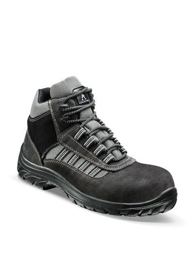 Chaussure de sécurité haute en cuir velours ATLANTIS S1P