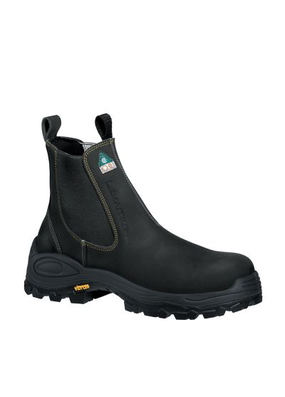 RIDERBOOT BLACK SBP SAFETY CHELSEA BOOT WITH VIBRAM FIRE & ICE OUTSOLE