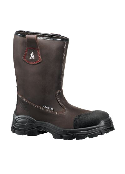 Safety rigger boot in water-repellent oiled split leather DESERT S3 CI