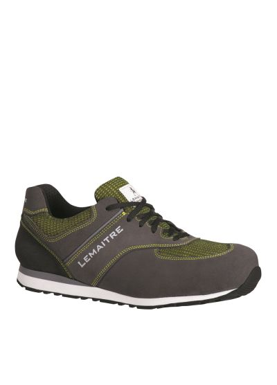Grey and green safety trainer JAMES S3