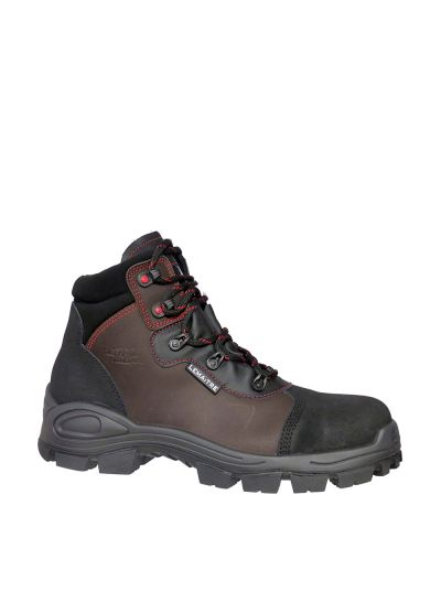 Trail safety shoe in water-repellent oiled split leather for construction industry PEGASO BTP S3 CI