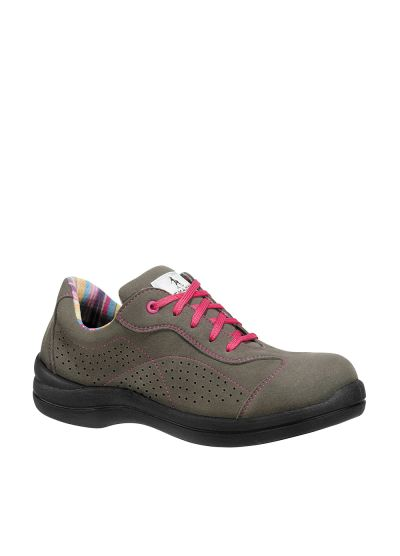 Breathable Women's safety shoe PINK S1P