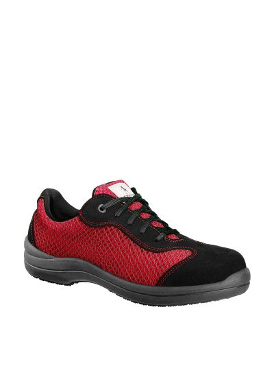 RESEDA S1P RED WOMAN'S BREATHABLE SAFETY SHOE