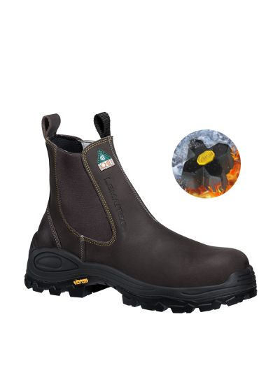 RIDERBOOT SBP DARK BROWN SAFETY CHELSEA BOOT WITH VIBRAM FIRE & ICE OUTSOLE