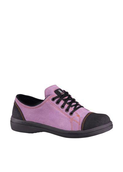 VITAMINE LOW LILAS S2 SRC chaussure de sécurité femme en cuir velours